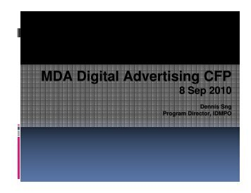 MDA Digital Advertising CFP MDA Digital Advertising CFP