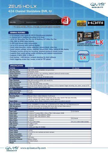 zeus HD lx - Qvis Security