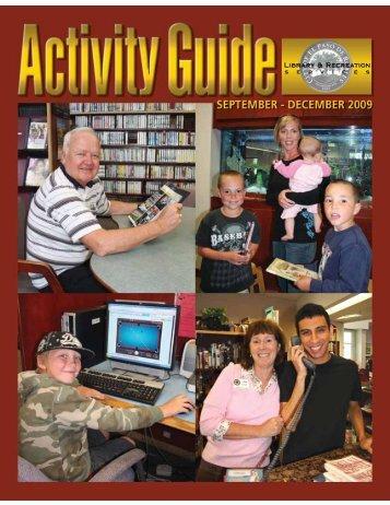Activity Guide September - December 2009 - Rec Foundation
