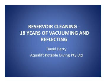 RESERVOIR CLEANING - 18 YEARS OF VACUUMING AND ...