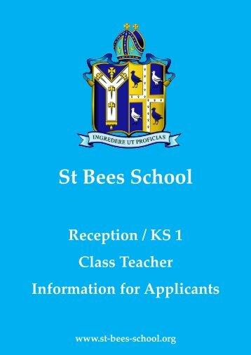 Informaton for Applicants_KS1 Rec - St Bees School