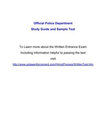 Civil Service Peace Officer Practice Pack - JobTestPrep