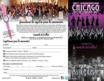 formulario de registro para la convención momento de brillar!