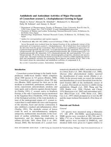 antidiabetic and antioxidant activity of wasteland Objective: to evaluate the antioxidant and antidiabetic mechanism(s) of ethyl  acetate extract fraction of moringa oleifera (m oleifera) leaves on.
