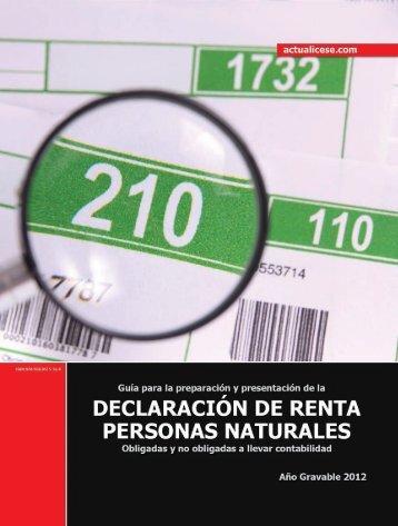 Declaración de Renta de Personas Naturales obligadas y no ...