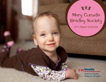 Mary Cornelia Bradley Society - University of Wisconsin Hospital ...