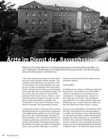 """Ärzte im Dienst der """"Rassenhygiene"""" - Hinterland Magazin"""
