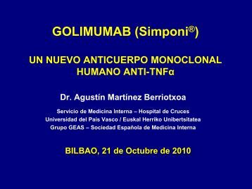 Golimumab - EXTRANET - Hospital Universitario Cruces