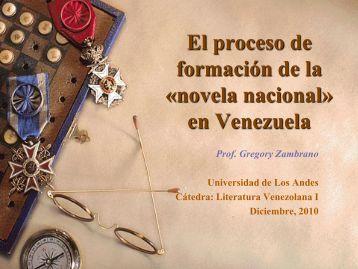 Literatura Venezolana I