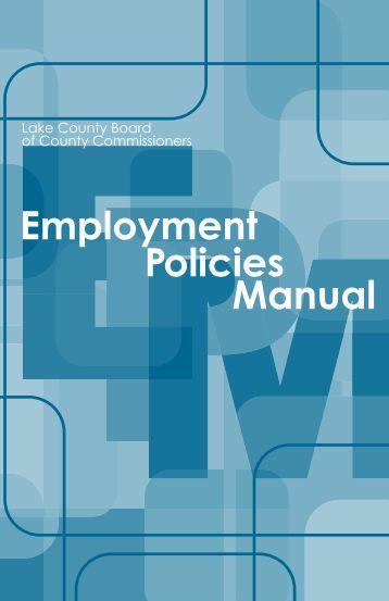 human resources policies and procedures manual