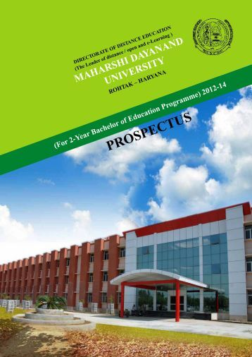 P ECUS ROSP T - Maharshi Dayanand University, Rohtak