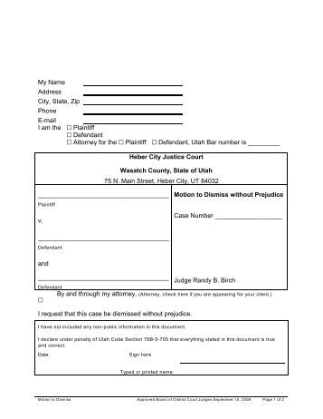 motion to dismiss with prejudice template images