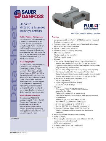 Sauer-danfoss releases its plus+1 compliant h1 60cm3 bent axis motor