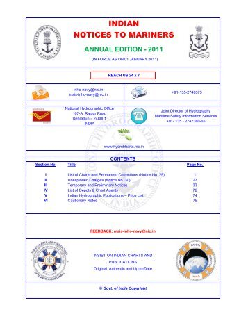 annual edition - 2011 - Indian Naval Hydrographic Department