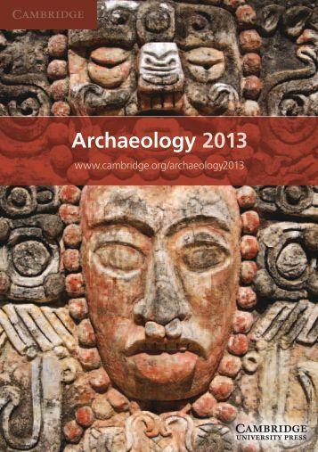 Archaeology 2013 - Cambridge University Press India