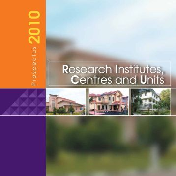 Research Institutes, Centres and Units - Universiti Sains Malaysia