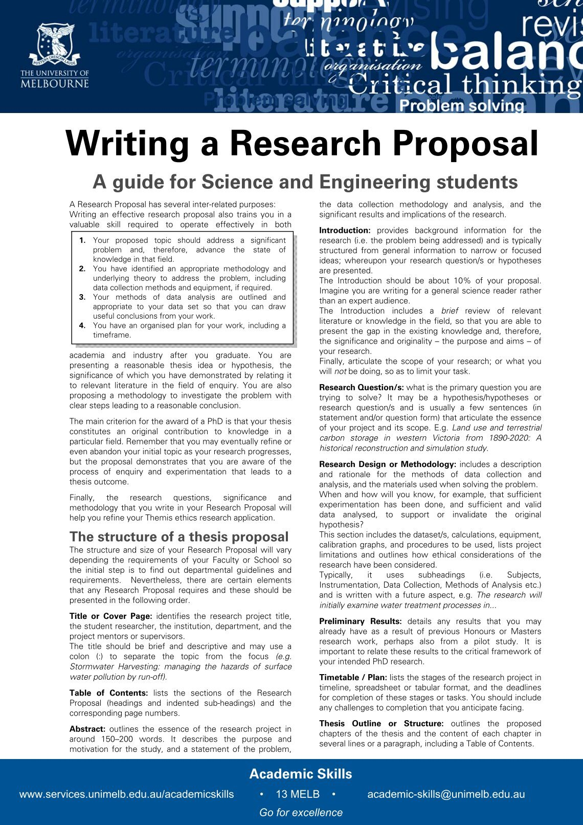 six sections of a scientific research paper
