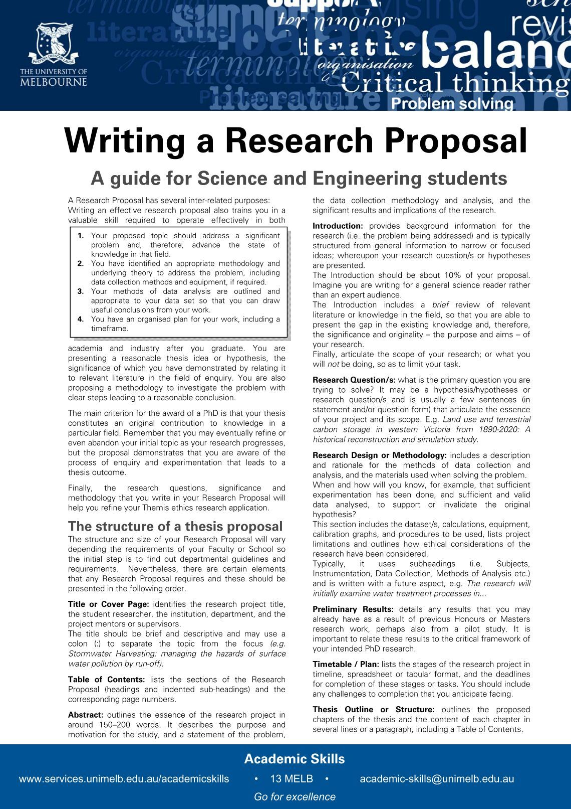Creative writing phd research proposal