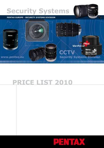 Price List 2010 - Security Systems - Pentax