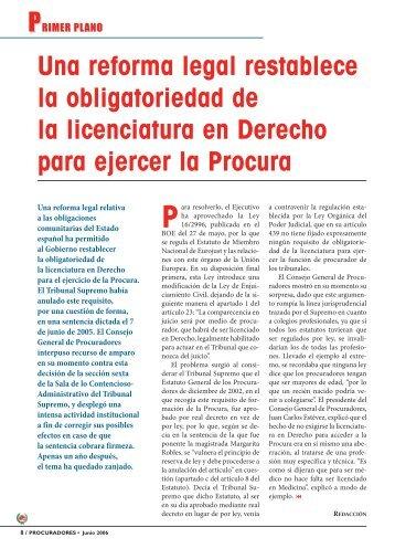Primer Plano - Consejo General de Procuradores