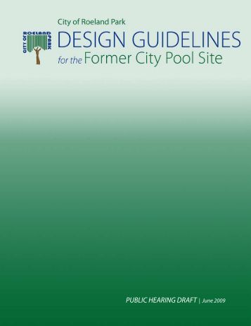 Greater for Pool design guidelines