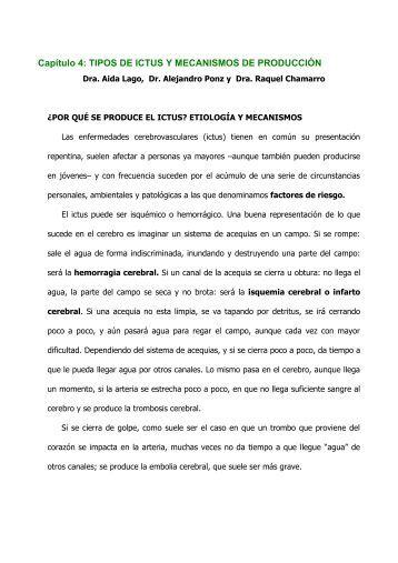 Capítulo 4: TIPOS DE ICTUS Y MECANISMOS DE PRODUCCIÓN
