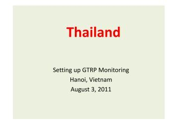 Thailand - Global Tiger Initiative