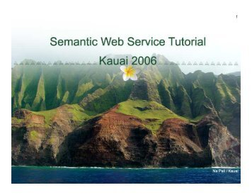 HICSS Semantic Web Service Tutorial - Projects