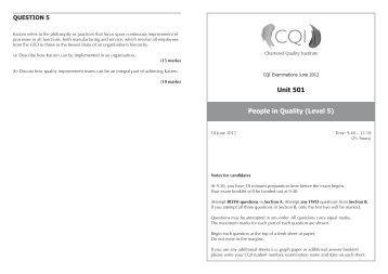 U501 June 2012 Exam Paper