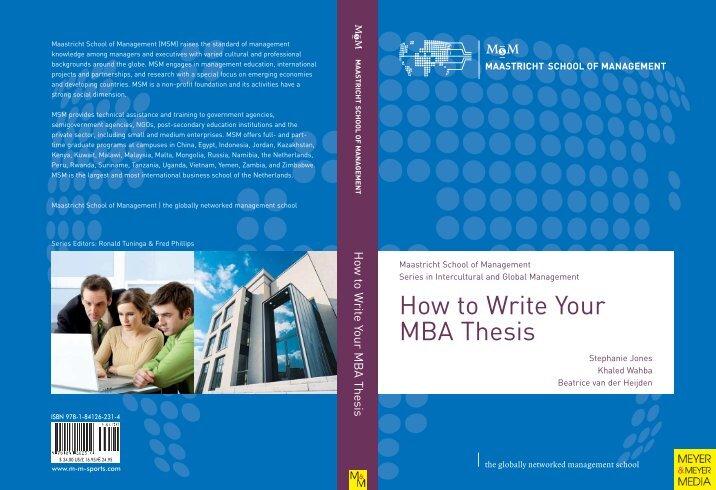 Mba dissertation pdf