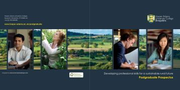 Postgraduate Prospectus - Harper Adams University College
