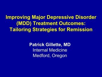 major depressive disorder and patient essay Caring for a patient with major depressive disorder (mdd) essay 3408 words | 14 pages introduction major depressive disorder (mdd) is characterized by the presence of one or more major depressive episodes (mde) without a history of manic, mixed, or hypomanic episodes.