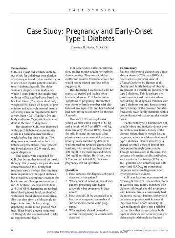 evolve case studies gestational diabetes