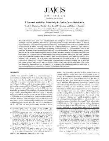 olefin cross metathesis