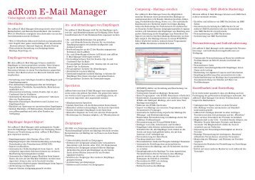 adRom E-Mail Manager