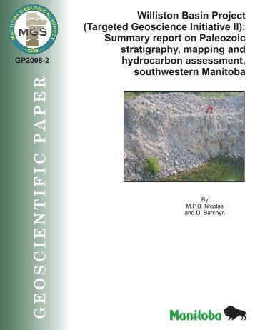 Williston Basin Project (Targeted Geoscience Initiative II): Summary ...