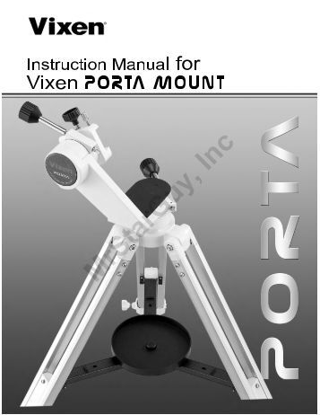PORTA Mount Manual - Vixen Optics