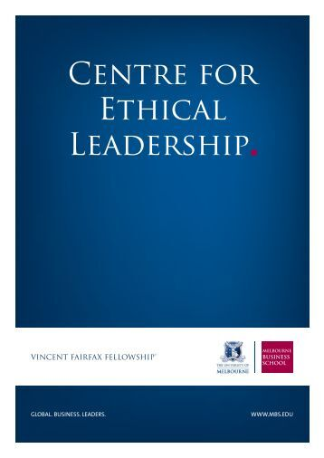 Centre for Ethical Leadership - Melbourne Business School