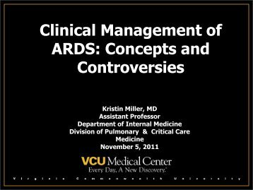 Clinical Management of ARDS: Concepts and Controversies