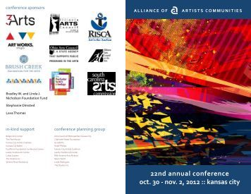 conference program - Alliance of Artists Communities