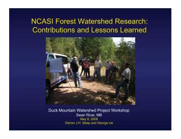 Duck Mountain Watershed Project Workshop - Manitoba Model ...