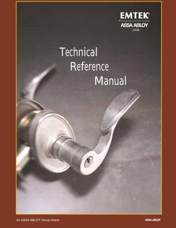 Technical Reference Manual - Emtek