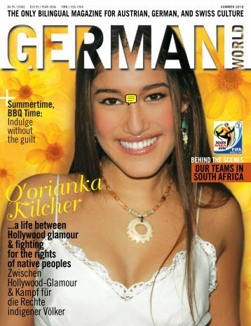 Q'orianka Kilcher - german world magazine