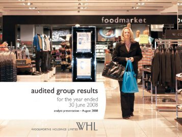 Click here - Woolworths Holdings Limited
