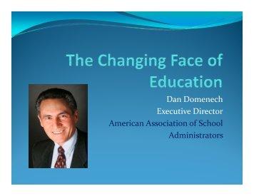 Dan Domenech Executive Director American Association of School ...