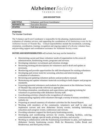 Scheduling coordinator job description