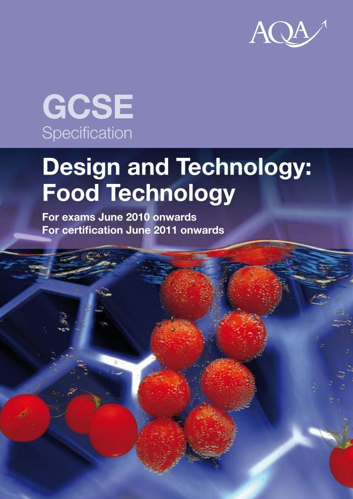 edexcel gcse food technology coursework Our fresh and exciting gcse food preparation and nutrition specification equips students with an array of culinary techniques, as well as knowledge of nutrition, food traditions and kitchen safety.