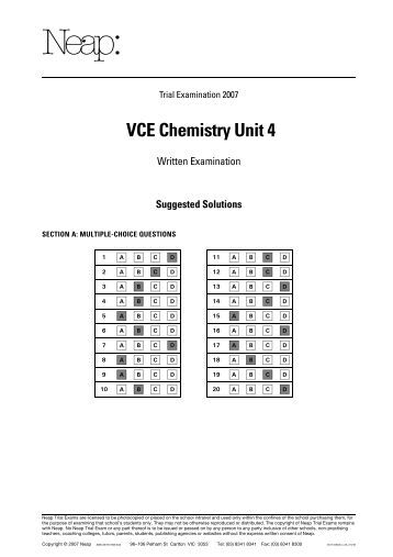 Chemistry unit 8 worksheet 4 answers