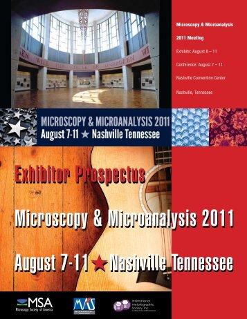 Exhibitor Prospectus Microscopy & Microanalysis 2011 August 7-11 ...