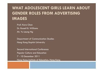 an analysis of the impact of gender roles in society A gender role in society is termed gender impact on the institution of marriage gender roles gender role ideology, gender roles.